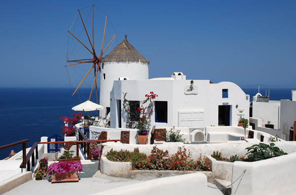 Windmill at Oia village, Santorini