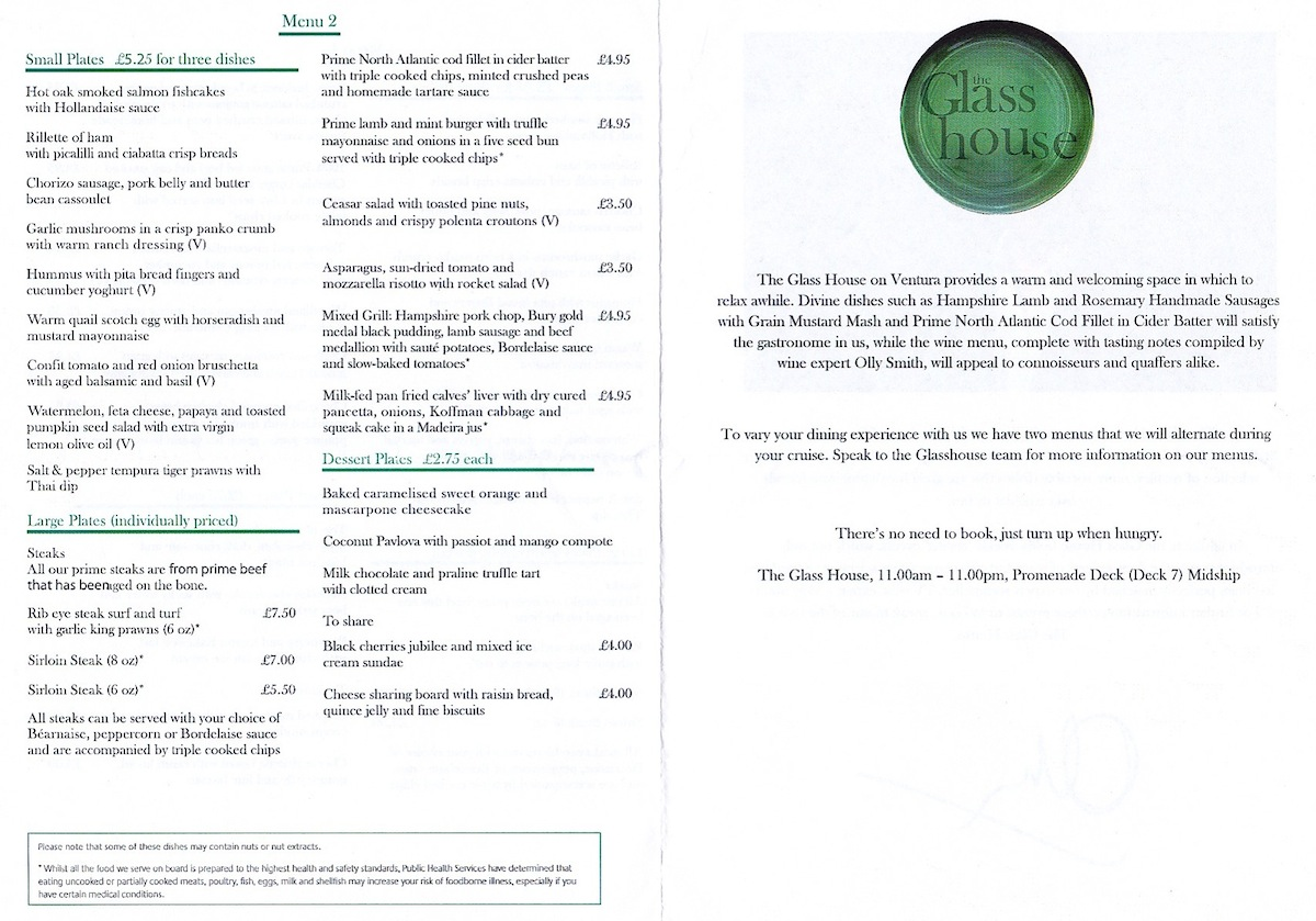 Glass House Menu pg2